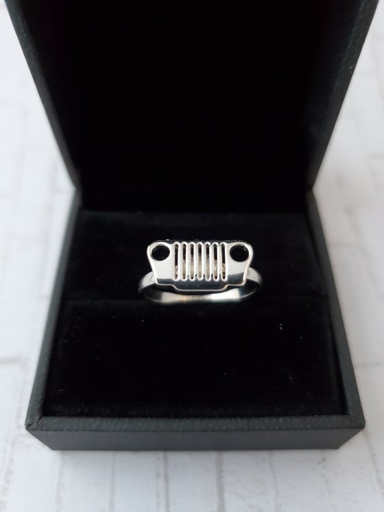 Image of Sterling Silver JEEP Grill Rings