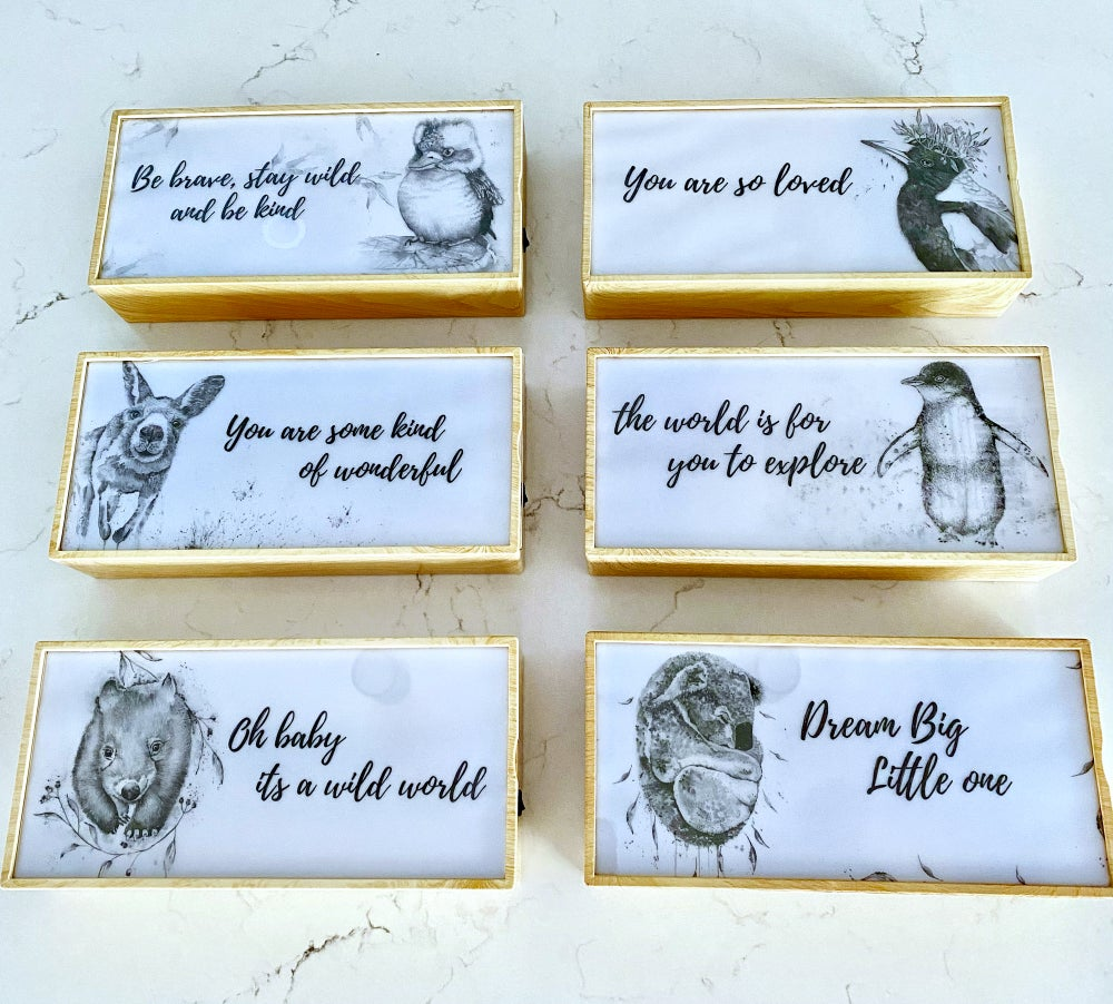 Image of Black and white night light boxes- FREE SHIPPING