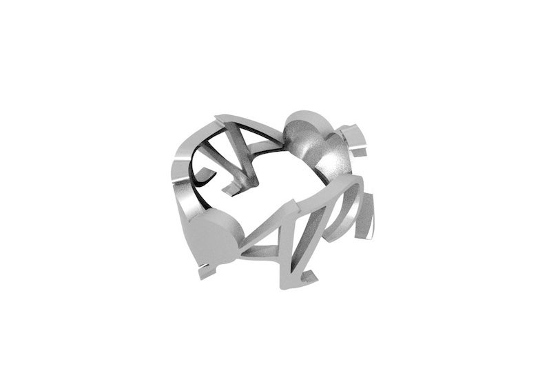 Image of I LOVE AP .925 STERLING SILVER RING