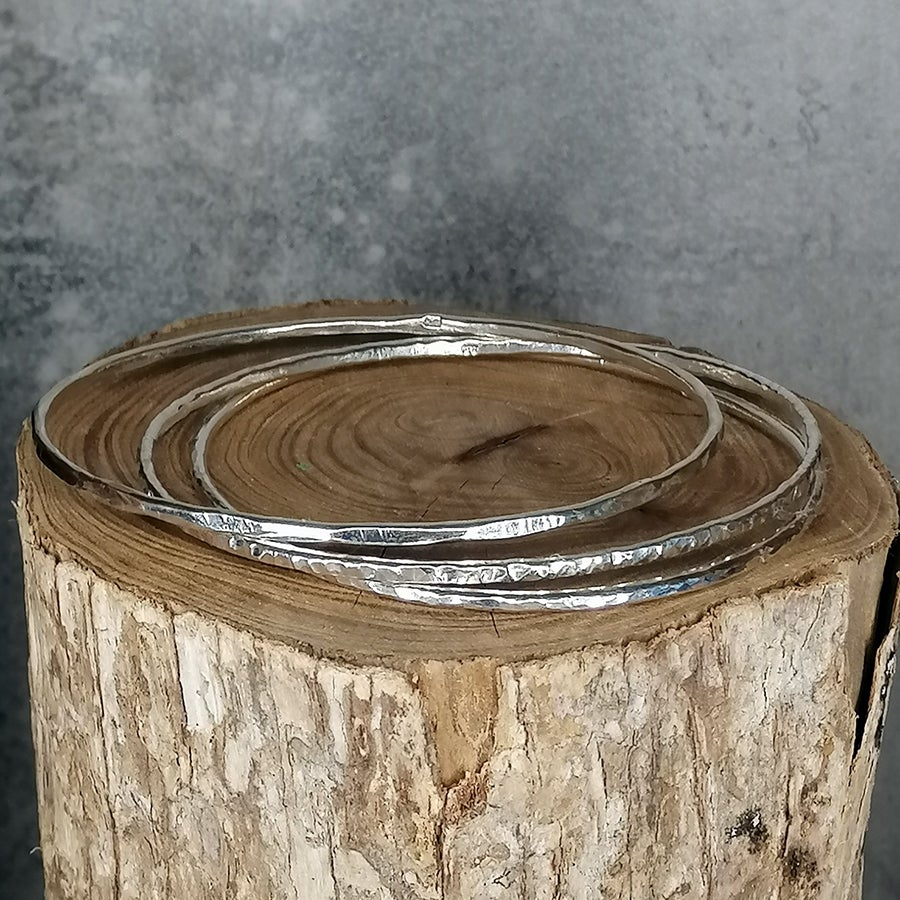 Image of Stering silver stacking bangles