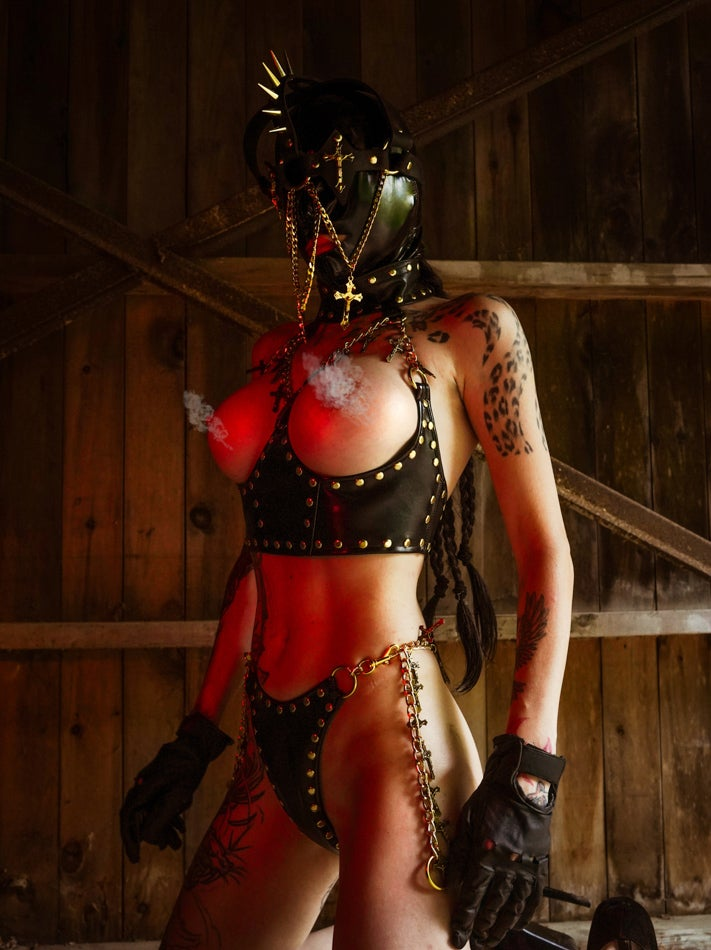 Image of Toxic Vision Sacrilege cup-less bustier top
