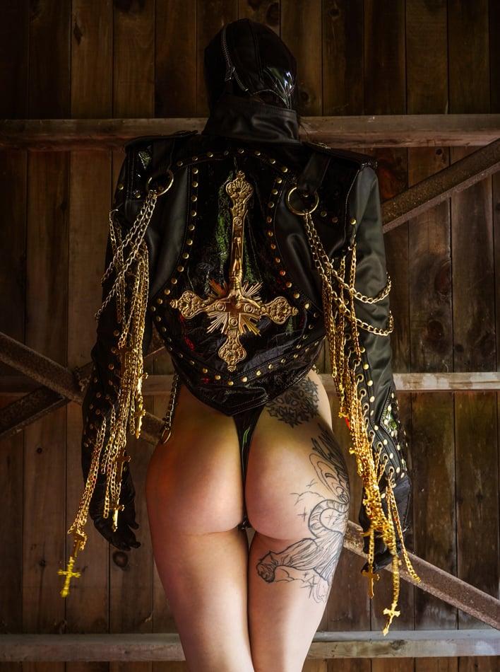 Image of Toxic Vision black Sacrilege jacket