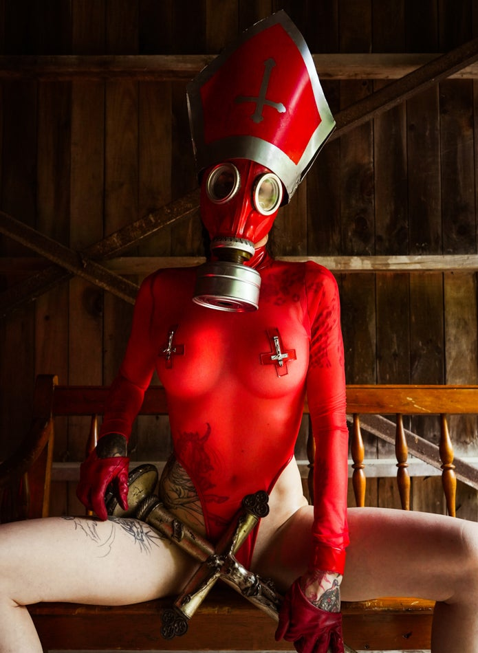 Image of Toxic Vision Sacrilege mesh bodysuit