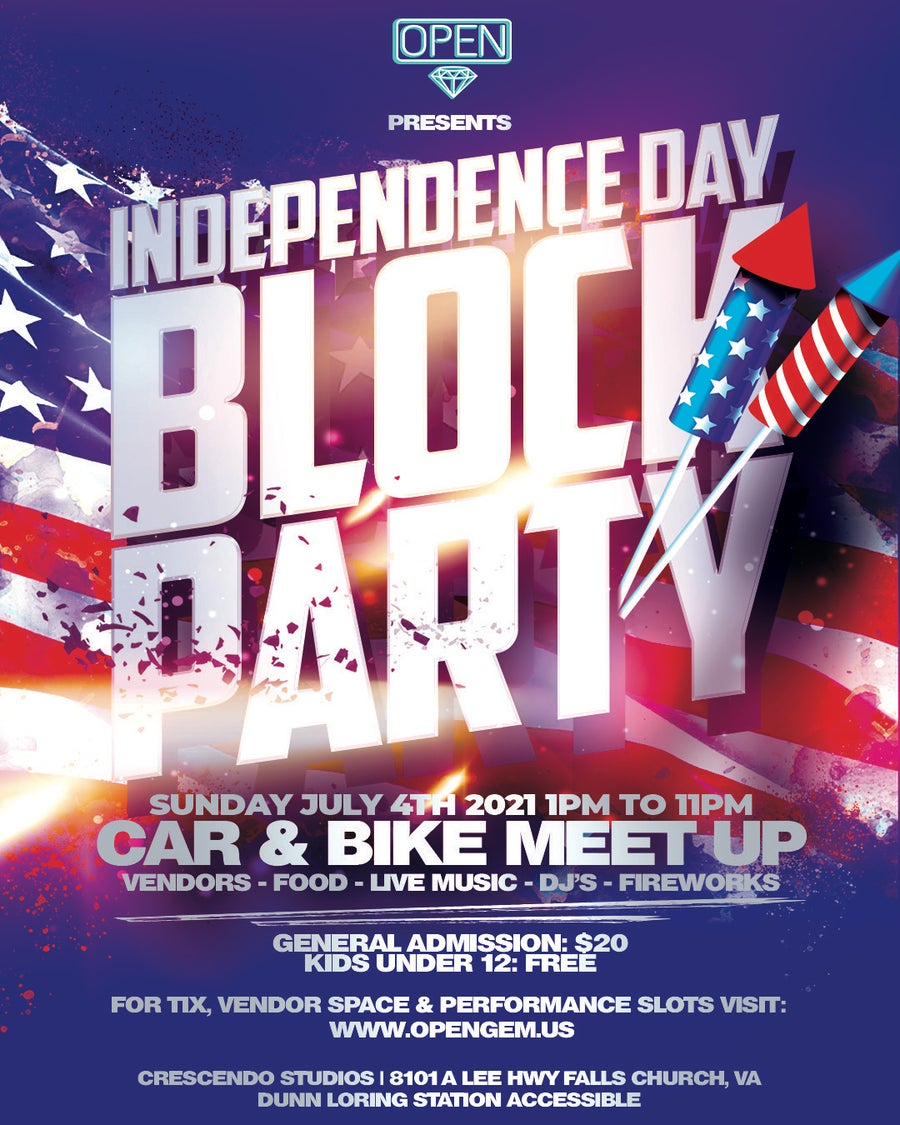Image of [GA] INDEPENDENCE DAY COOKOUT [GENERAL ADMISSION]