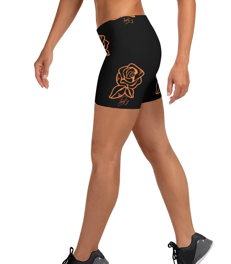 Image of Concrete Rose Biker Shorts