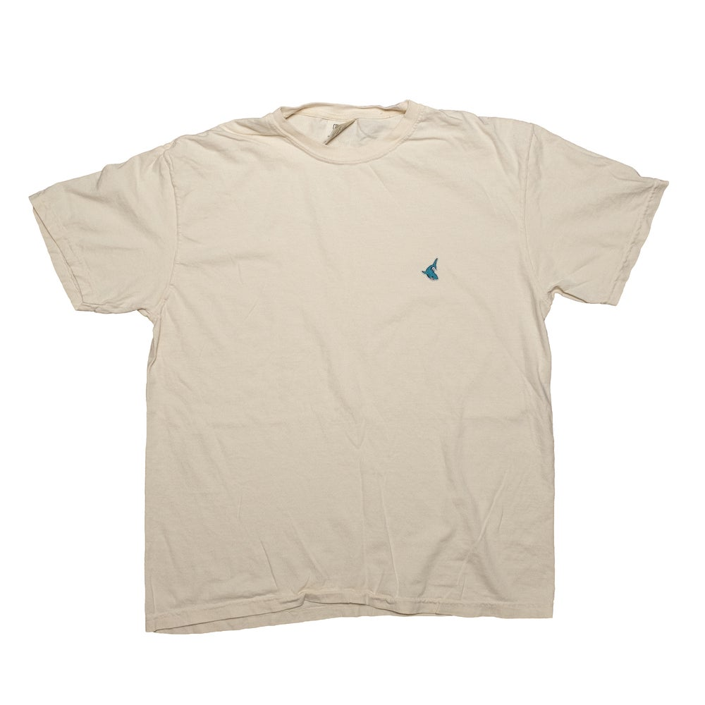 The Fin Tee in Ivory