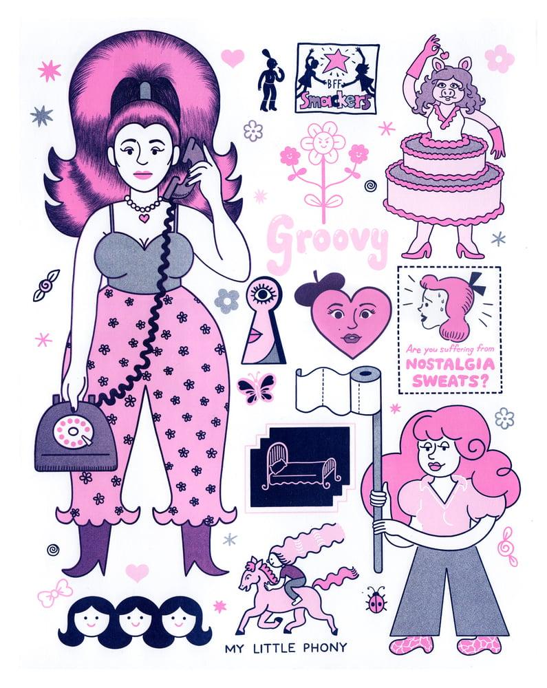 Image of Nostalgia sweats risograph poster