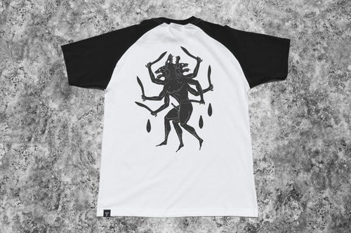 """Image of """"Hundred Hands"""" White Raglan T-Shirt"""