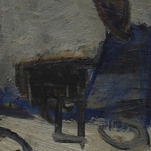 Image of Mid Century, Swedish, Oil Painting, 'The Dining Room'.