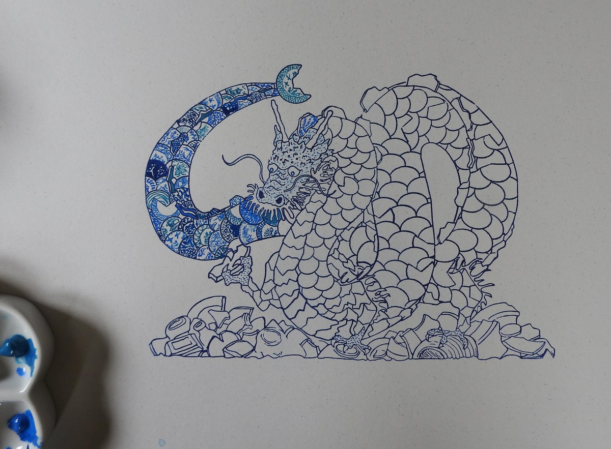 Image of the life of things - the potshard dragon