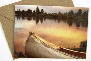 Image of Canoe at Greens Lake Postcard w/Envelope - Ashley National Forest