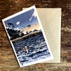 The lure of the sea greetings card