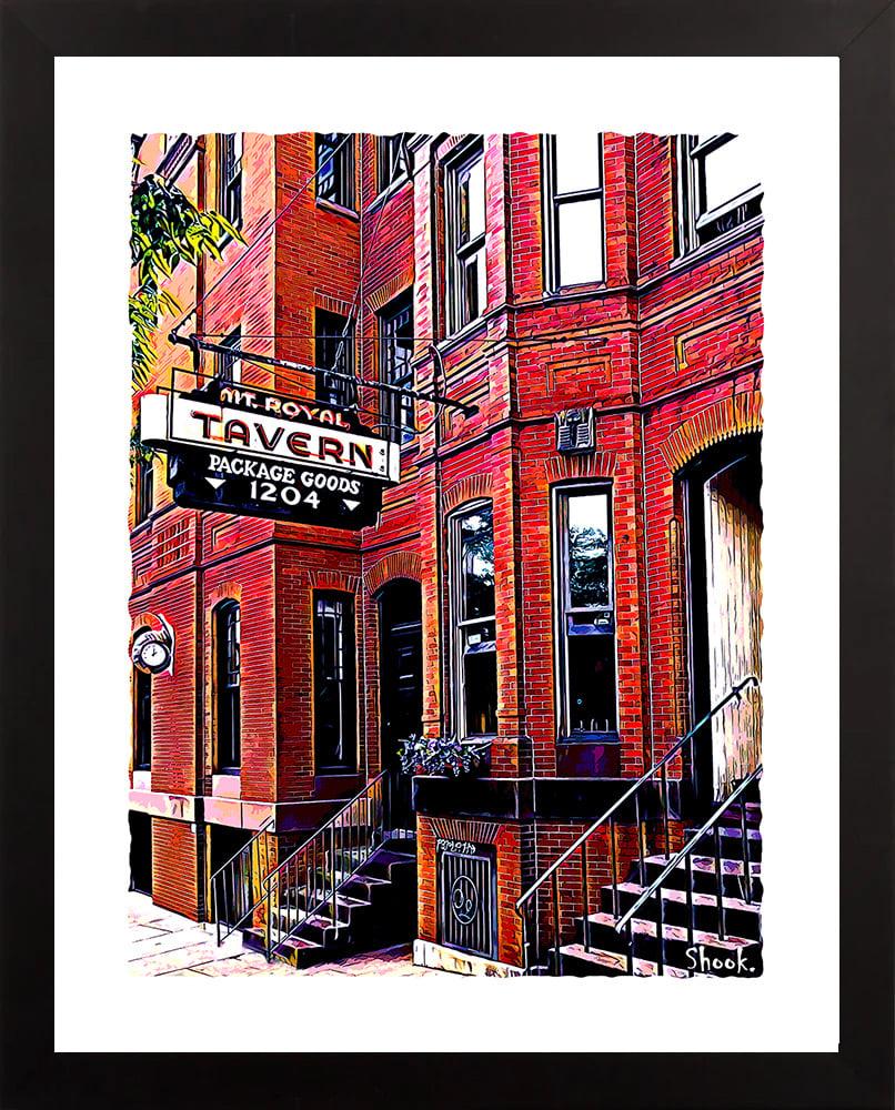 Mt. Royal Tavern, Baltimore MD Giclée Art Print (Multi-size options)