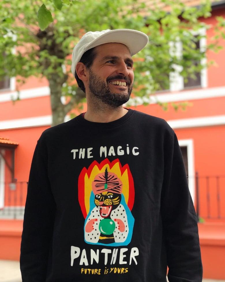 "Image of Sudadera negra ""The Magic Panther"""