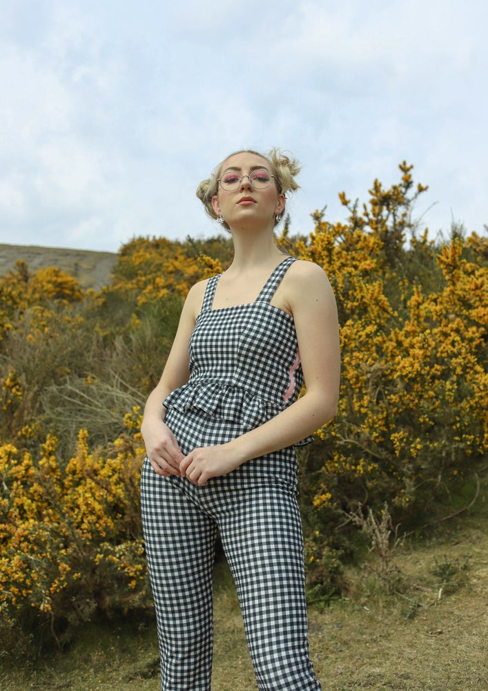 Image of CATCALL Black and White Gingham Co-Ord Set