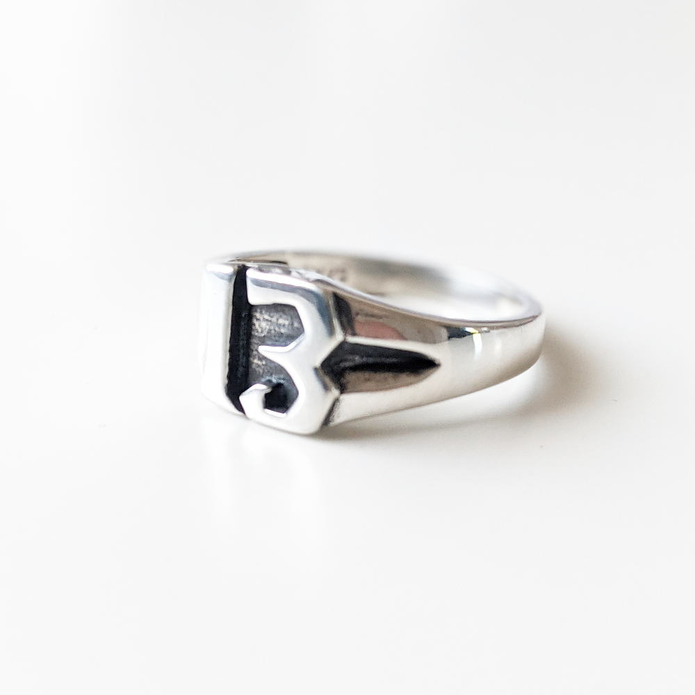 Image of Sterling Silver 13 Ring