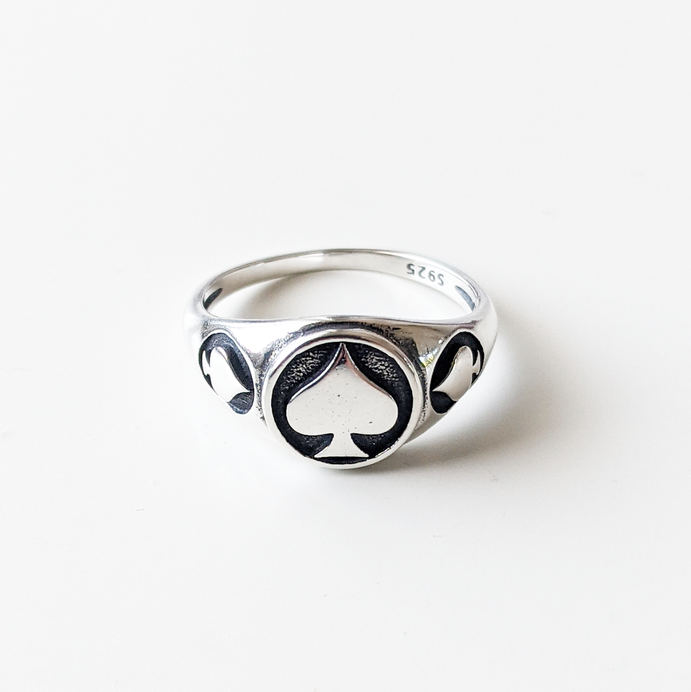 Image of Sterling Silver Spades Ring