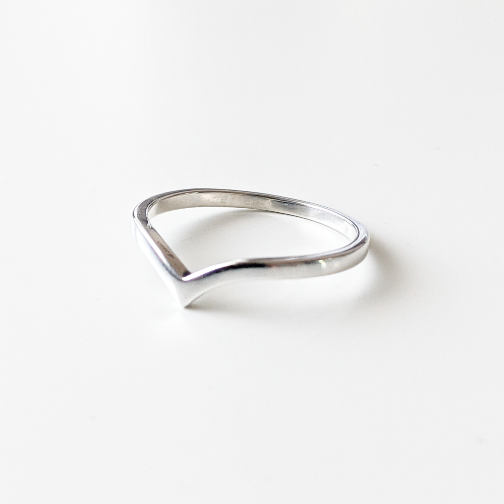 Image of Sterling Silver Wishbone Ring