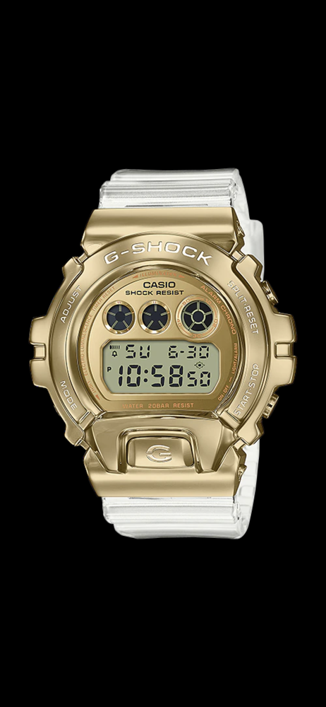 Image of GM-6900 - Metal Covered Series - Clear Resin Band