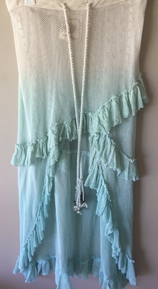 Image of Sale!!!Z andL mermaid skirt in mint with tassels