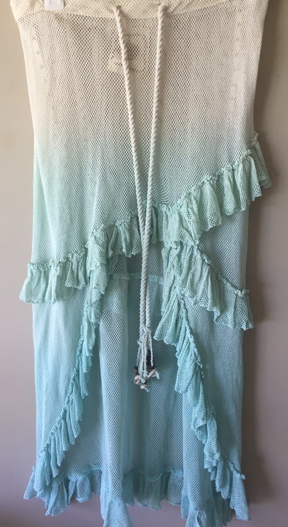 Image of Z andL mermaid skirt in mint with tassels