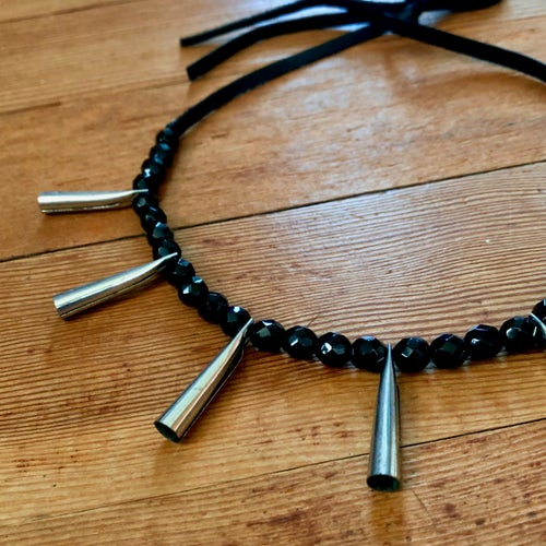 Image of Jingle Power Necklace (Black and Silver)
