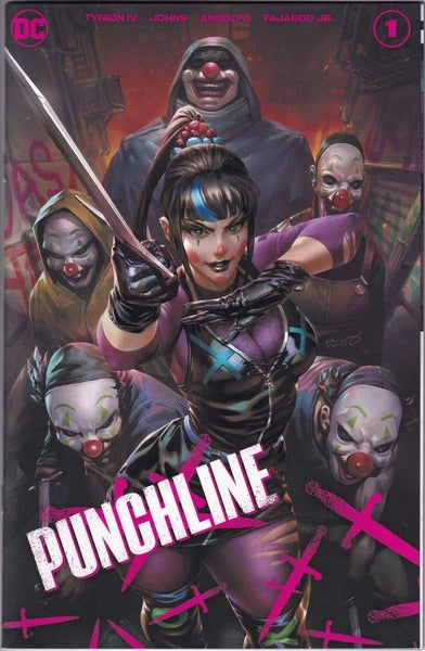 Image of PUNCHLINE special #1 DC comics TEAM variant cover by DERRICK CHEW