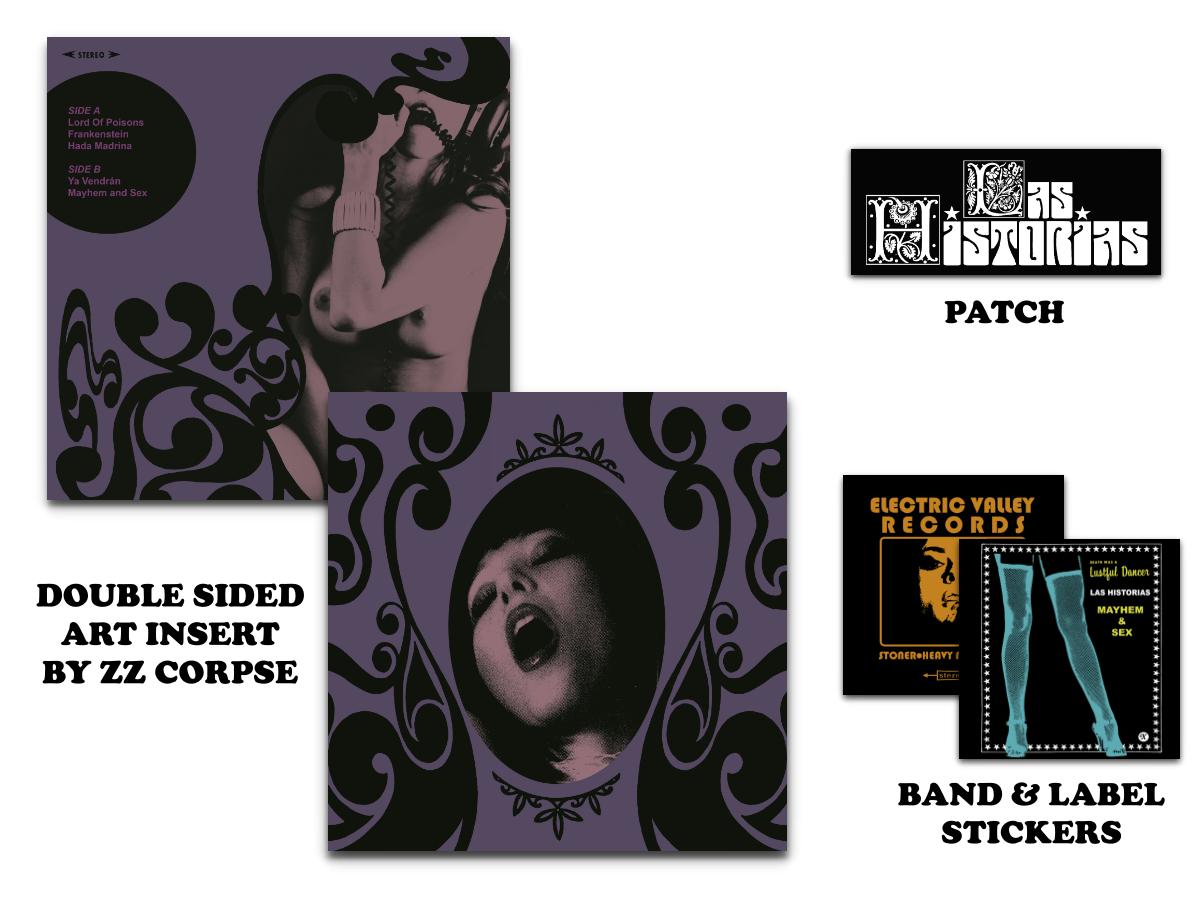 Image of Las Historias - S/T (Repress) 100x Ultra LTD Transparent Splatter Purple Vinyl