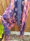 BOHO jumpsuit pink and blue