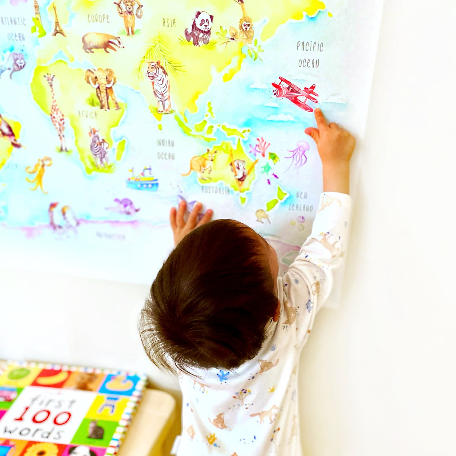 Image of Removable World map wall decal