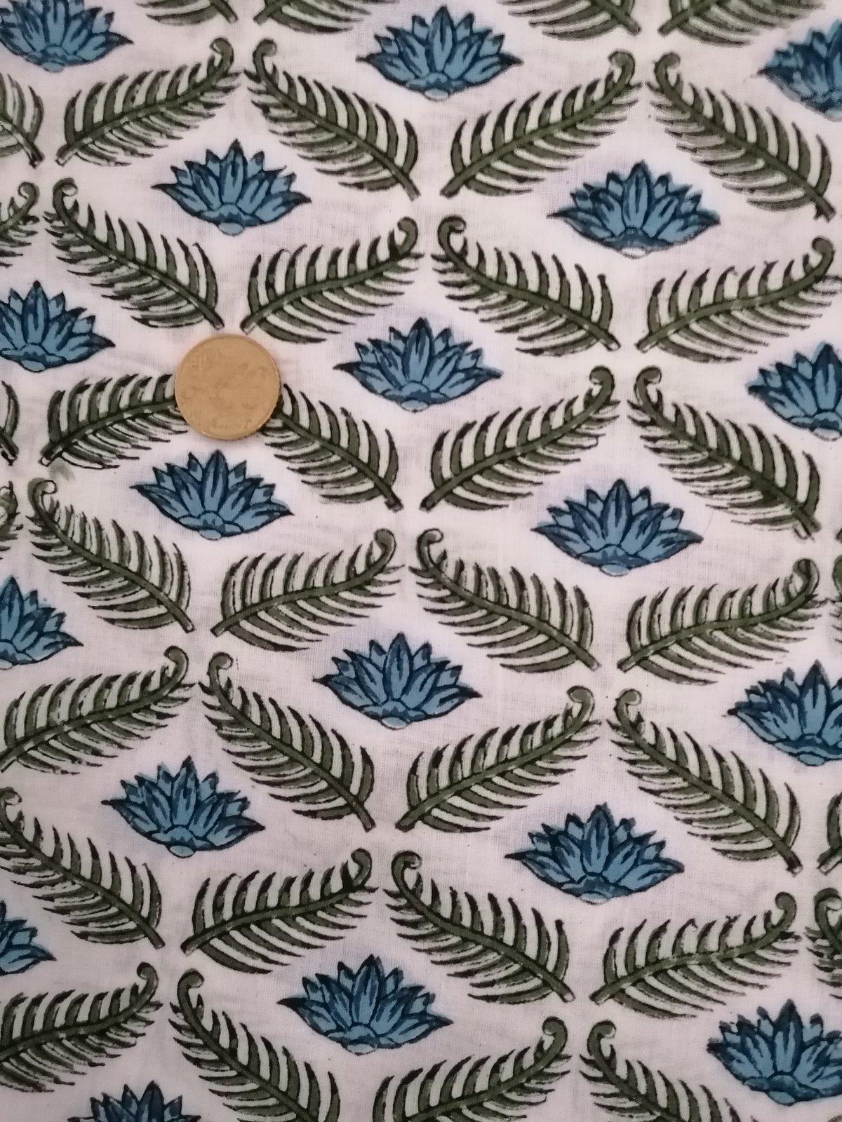 Image of Namasté fabric lotus bleu