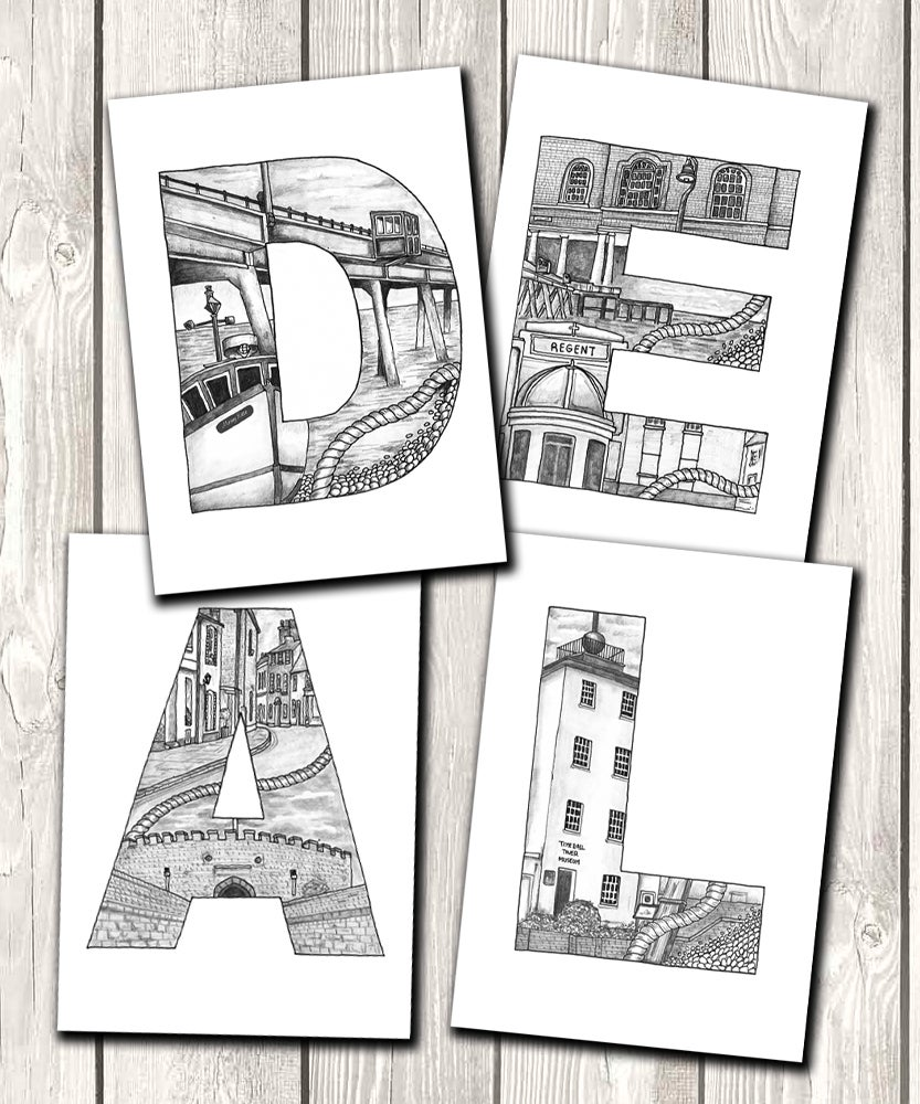 Image of Deal Doodled Letters Limited edition print bundle