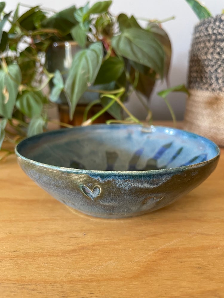 Image of Blue hearts rice bowl