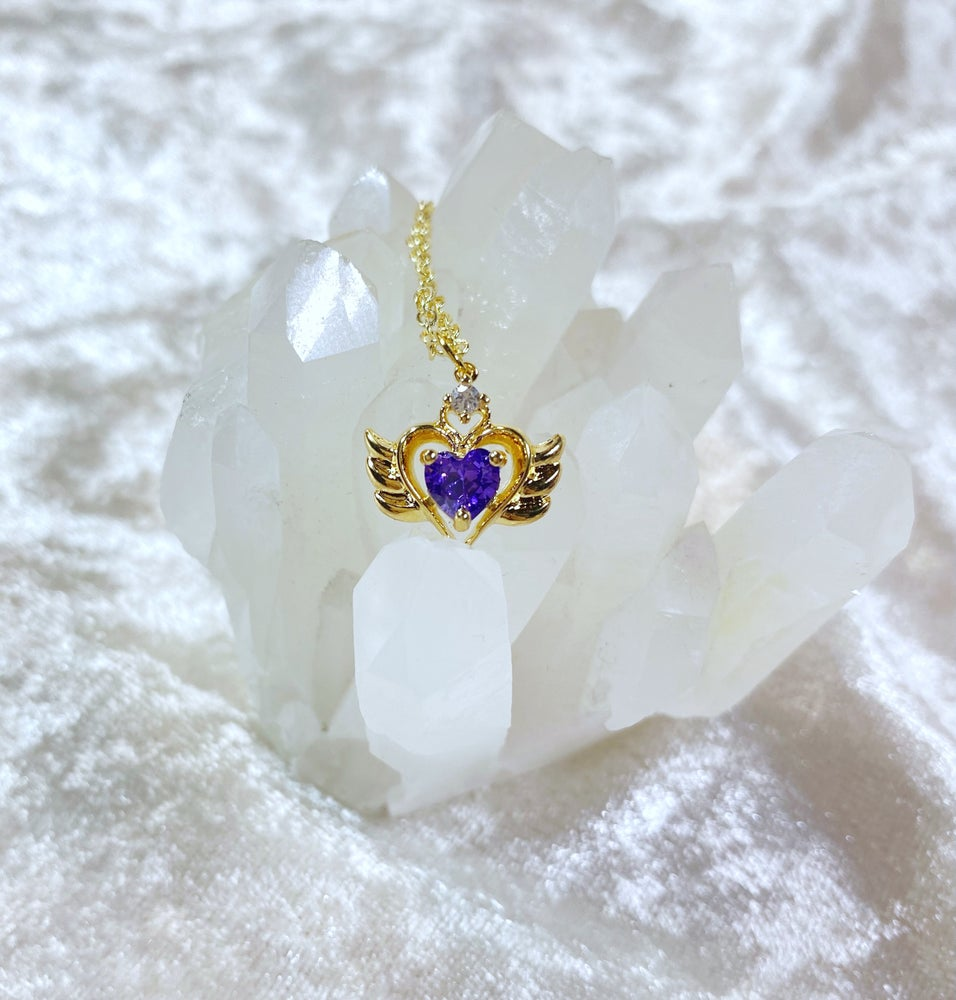 Image of February Sailor Moon necklace