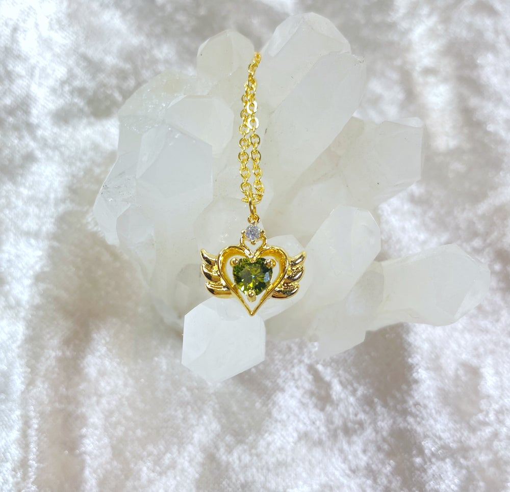 Image of August Sailor Moon necklace