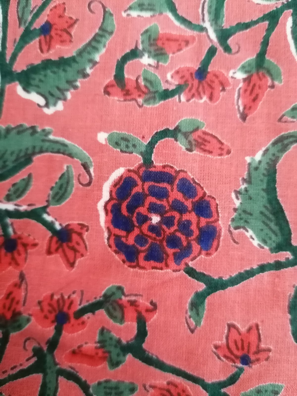 Image of Namasté fabric corail