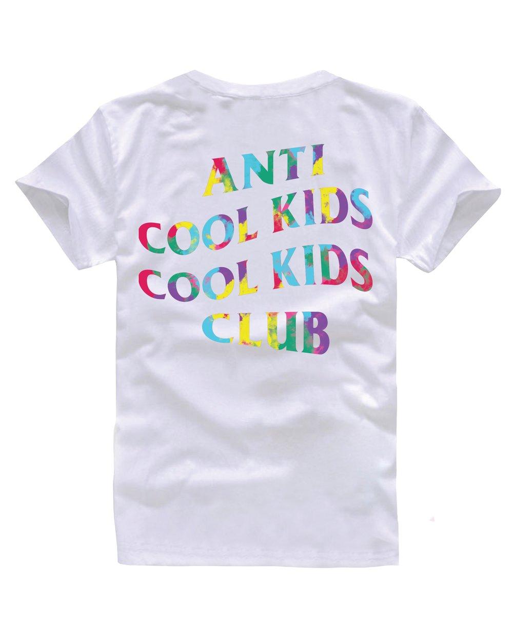 ANTI COOL KIDS TIE DYE WHITE