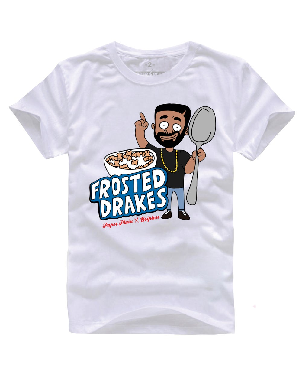 FROSTED DRAKES TEE WHITE (GRIPLESS COLLAB)