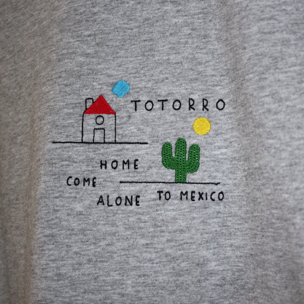 """Image of Totorro """"Come Alone To Mexico"""" embroidered tshirt (free shipping)"""