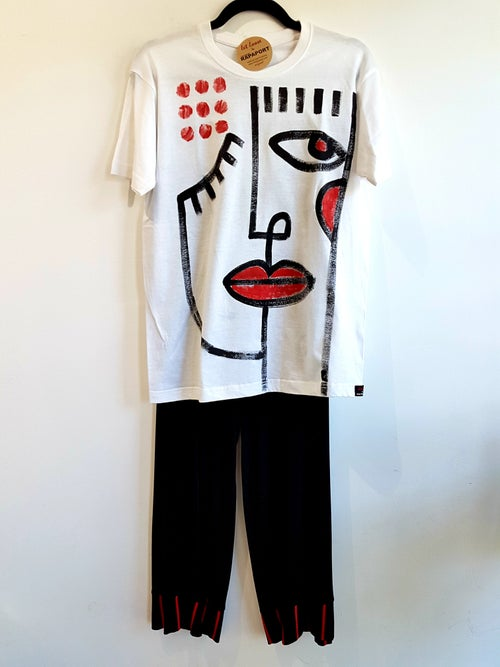 Image of #9 painted tshirt