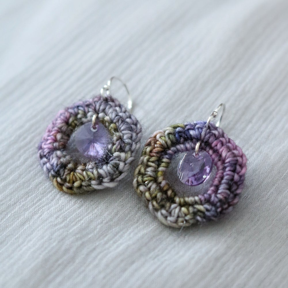 Image of HEXADROP EARRINGS - Lilac Tree