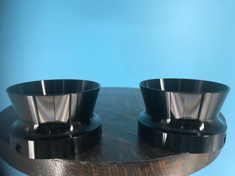 "Image of Burlington Recording Aluminum Black Trumpet ONLY for 1/4"" NAB Hub Adapters (PAIR)"
