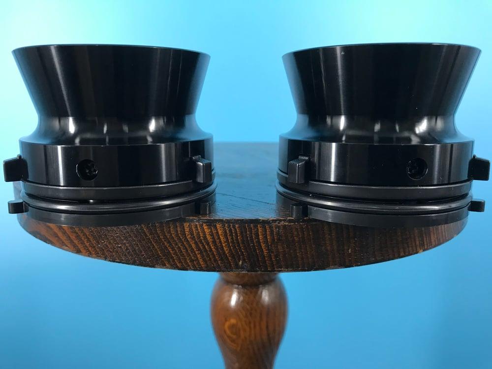 "Image of Burlington Recording Professional Black 1/4"" NAB Hub Adapters with Aluminum Trumpet (PAIR)"