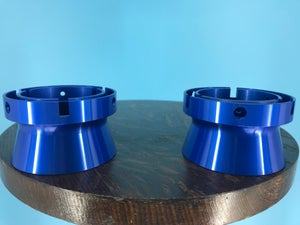 """Image of Burlington Recording Aluminum Blue Trumpet ONLY for 1/4"""" NAB Hub Adapters (PAIR)"""