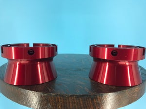 """Image of Burlington Recording Aluminum Red Trumpet ONLY for 1/4"""" NAB Hub Adapters (PAIR)"""