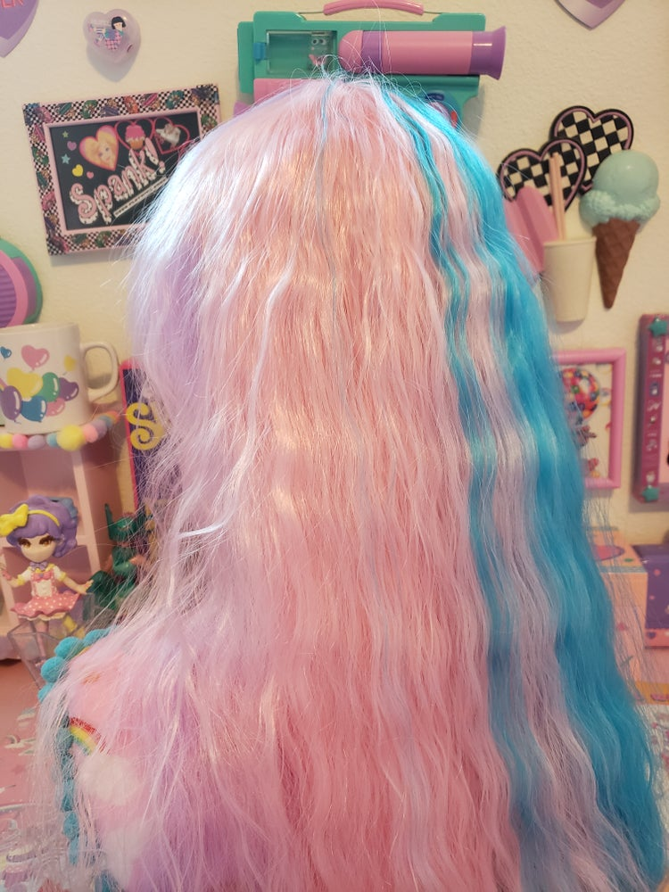 """Image of """"Magical Wave"""" Lavender, Blue, Baby Pink Mahou Kei Wig"""