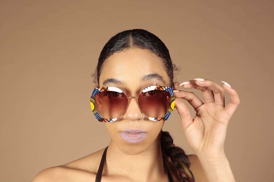 Image of Ankara African print sunglasses  23
