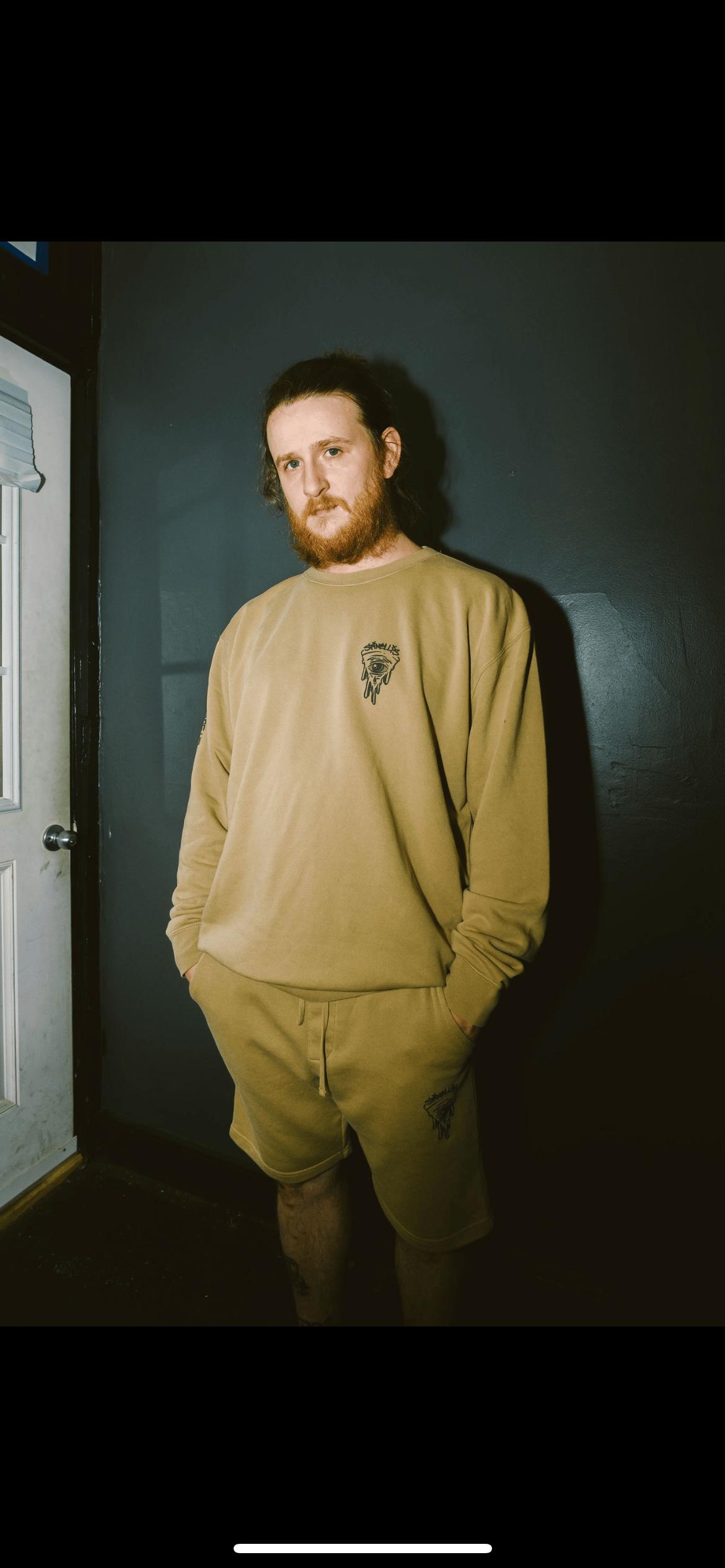 Pizza eye crewneck sweatshirt