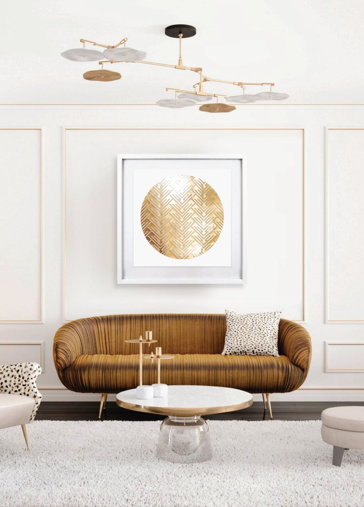 Image of 'Sentience'  Limited Edition gold foil screenprint