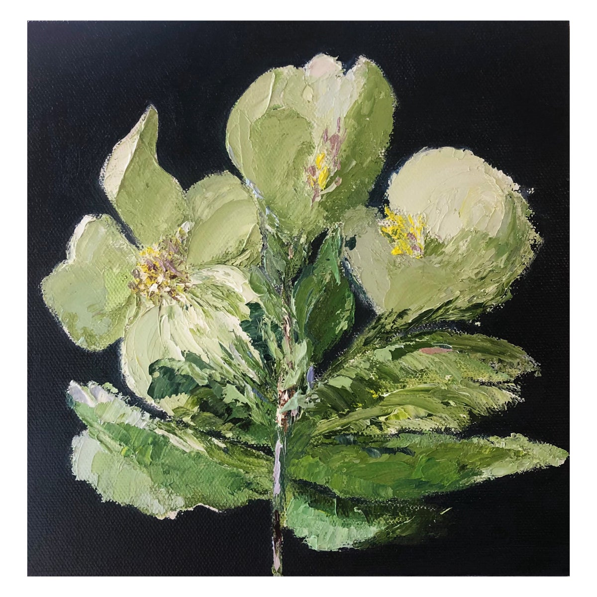 Image of 'Flower Stems' 2021 Oil on Canvas